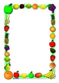Fruit-themed A4 page borders (SB920) - SparkleBox