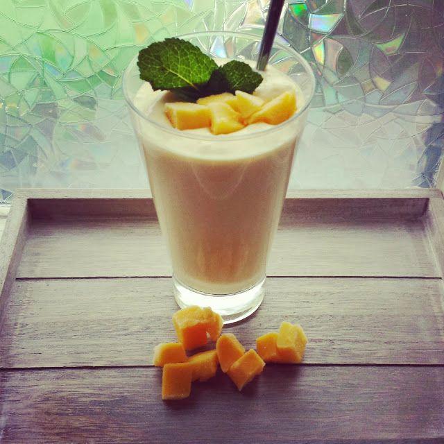 Tropische smoothie mango-kokos
