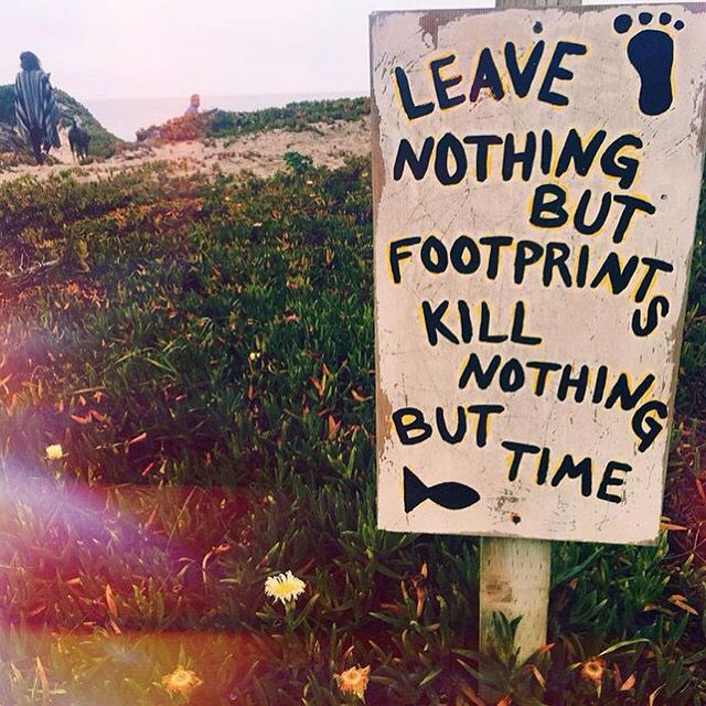 The sign says so #killnoanimals Mother Earth would be pretty peed off with us killing so many innocent animals completely unnecessarily. We're leaving behind a whole lot more than just footprints, we're leaving a trail of destruction, torture, death, violence & suffering. Go vegan and help put an end to this  www.vegankit.com  @jackyfalkenberg