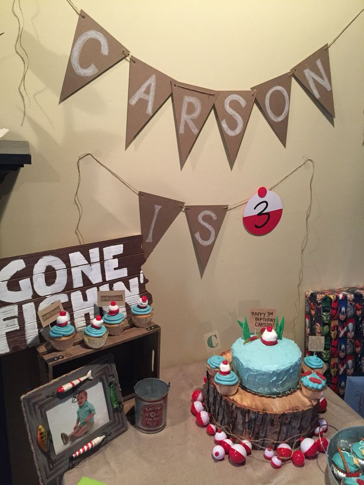 1000 ideas about gone fishing cake on pinterest fishing for Fishing themed party supplies