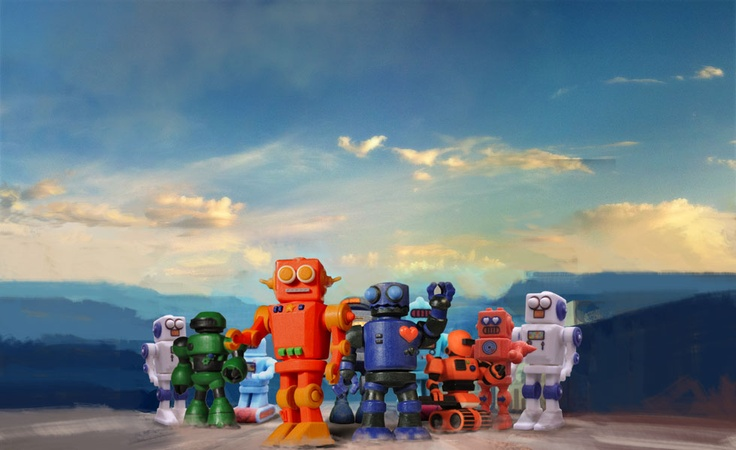 My Robot Nation / fun and easy online creation of unique robots, 3d printed in color and delivered to your door / via verena