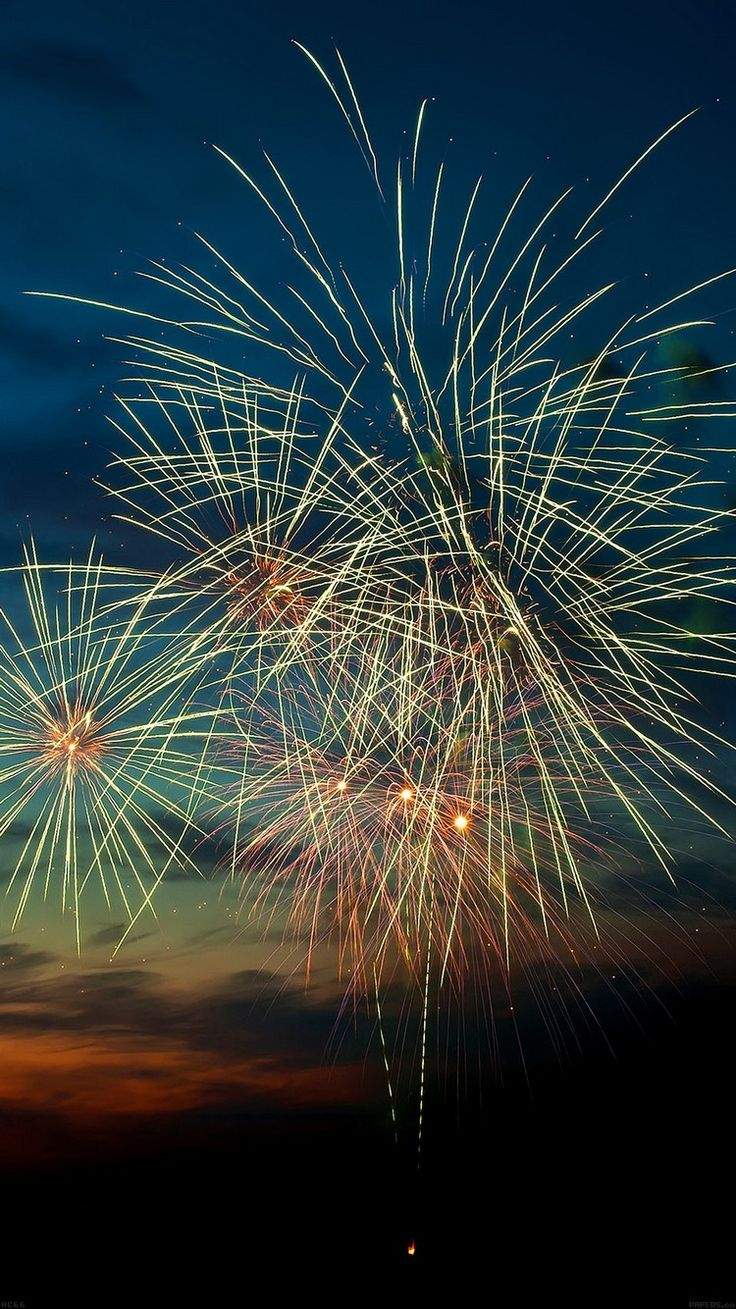 Happy New Year 2015 Fireworks Sunset iPhone 6 Wallpaper