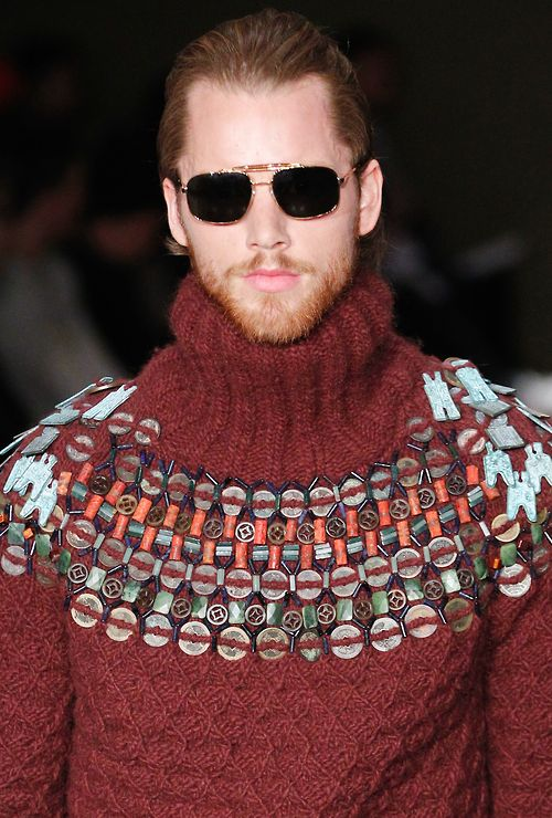 Made Yoke.   Michael Bastian gives us crafted fair isle for #FW14, seen on the first day of #NYFW