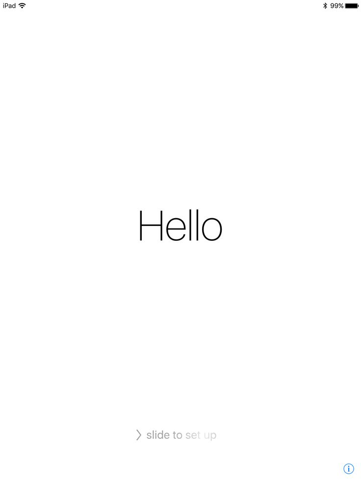 Hello just updated iPad