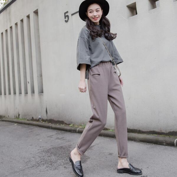 ニットガウチョパンツ レディース服ファッション秋冬 女性 カジュアル 体型カバー ゆったり穿き心地  肌触りいい ニット ロングパンツ 韓国ファッシ