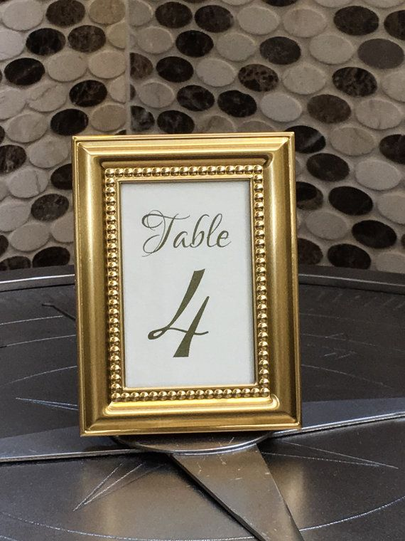 Set of stunning gold table numbers/Beautiful by ALoveStoryWedding
