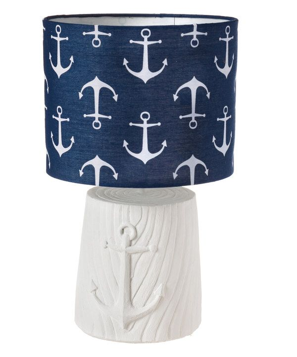 Look at this Navy & White Anchor Shade Lamp on #zulily today!
