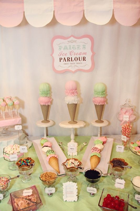 Blog my little party ideas e inspiraci n para fiestas - Decoracion de helados ...