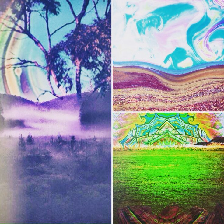 Psychedelic art nature free sea love byme