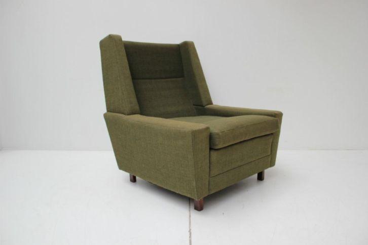 armchair, rectangular, upholstery green