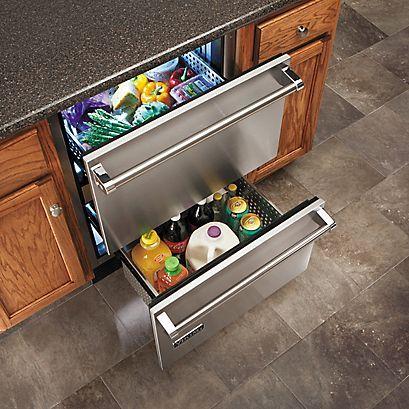 "24"" Refrigerated Drawers (VRDI) in Stainless Steel - Viking Range, LLC"