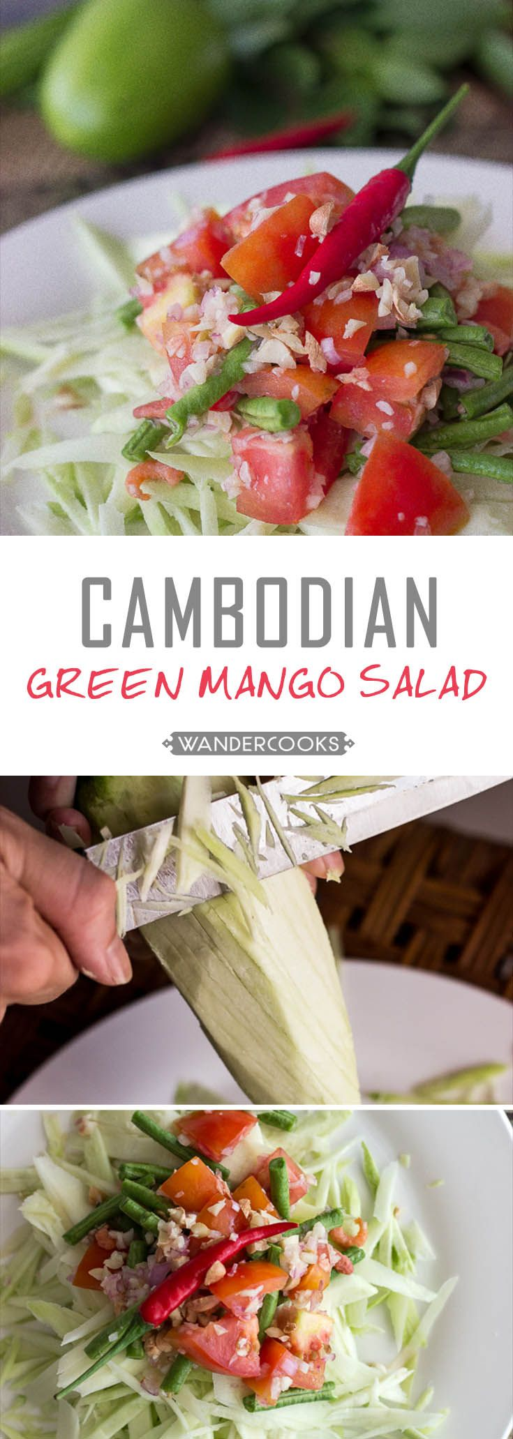Cambodian Green Mango Salad is crunchy, healthy and smothered in natural zesty flavour. Plus it's SUPER easy to make. So what makes it so good?