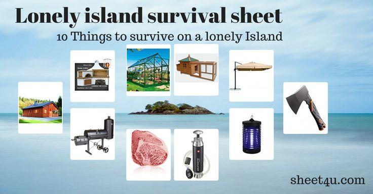 Überleben auf einer einsamen Insel?  Wir richten uns direkt häuslich ein. => hebt den Wert der Immobile ;-)
