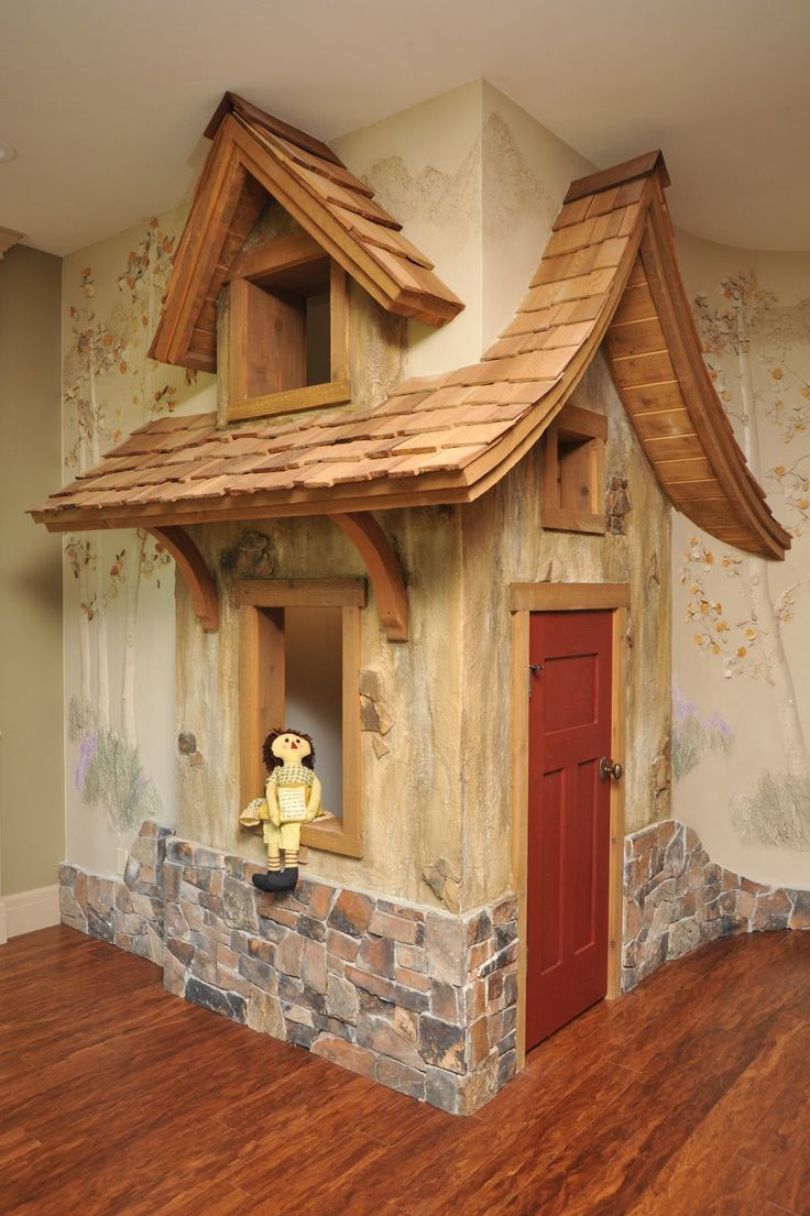 Another cute feature added in for the grand kids - a playhouse under the stairs! @ the Olson's home