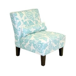 Bird and Floral Print Slipper Chair - Robin's Egg - target.com - master bedroom - formal sitting room?