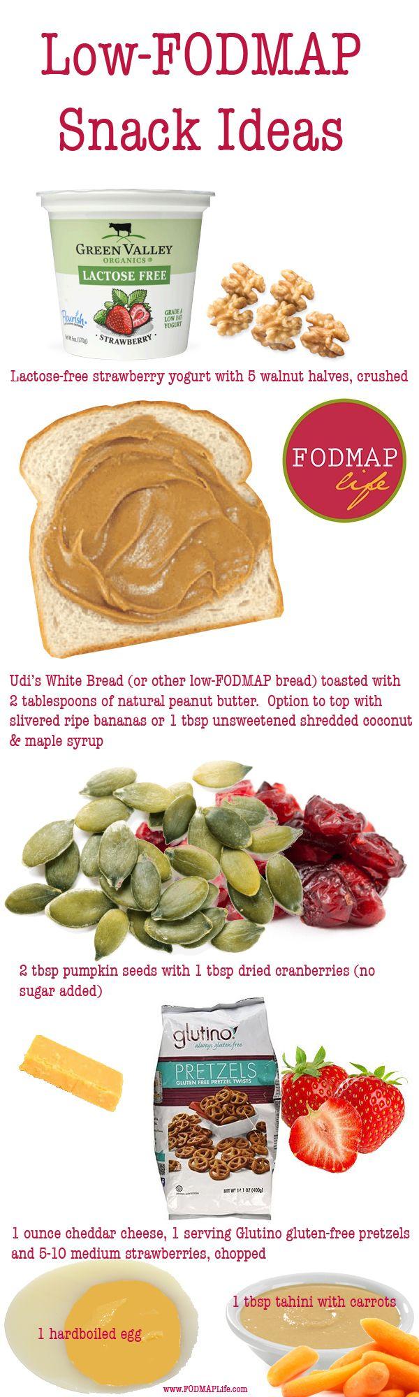 45 Low-FODMAP Snack Ideas from FODMAPLife - enjoy!