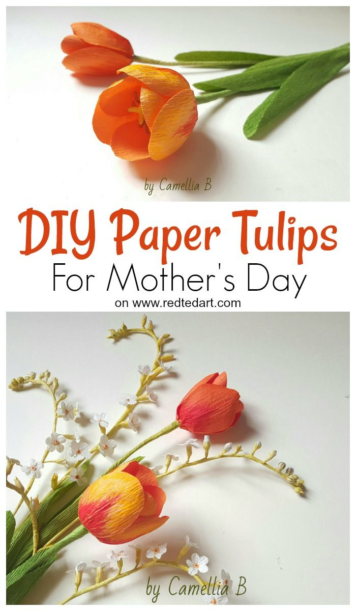Paper Tulip Craft Paper Flowers Diy Paper Flower Tutorial Tulips