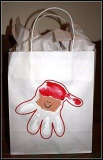 Cute idea for decorating parent gift bags!