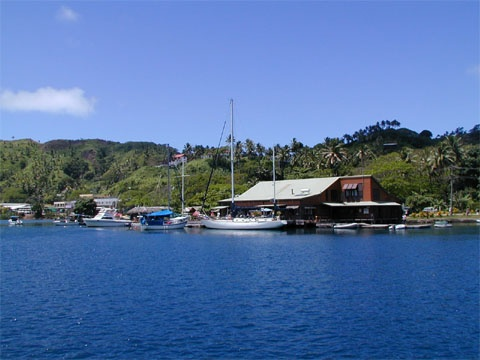 Spent a glorious three weeks near this quaint town of Savusavu, my best friend fell of the dock of this yacht club in the middle of the night...while we were looking over at the huge fish and sharks...