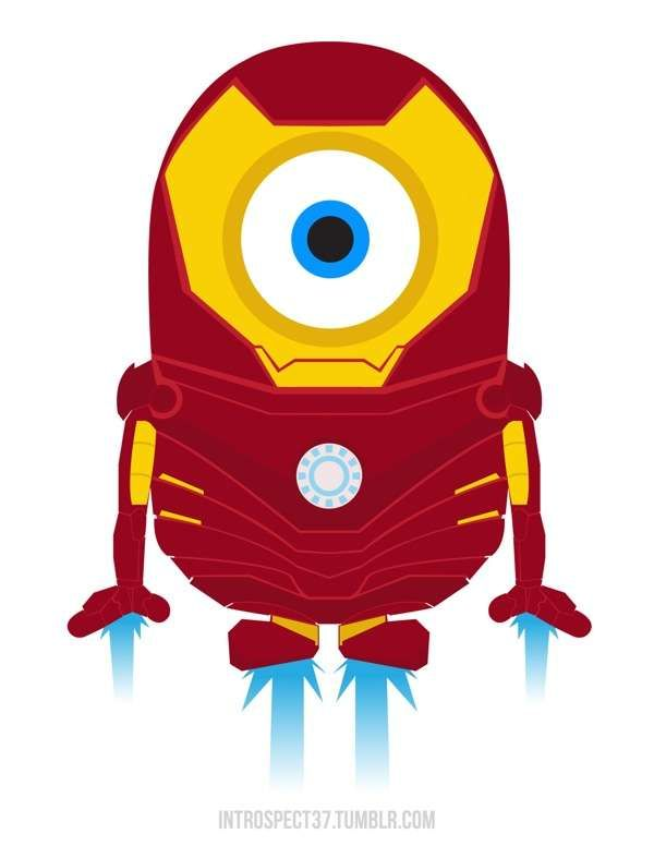 The Minions Superheroes @Angela Kiani paint this for attie