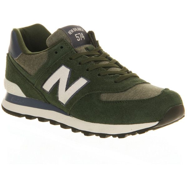 New Balance M574 ($59) ❤ liked on Polyvore featuring shoes, athletic shoes, sneakers, trainers, dark green navy, unisex sports, navy blue suede shoes, sports shoes, lightweight shoes and light weight running shoes