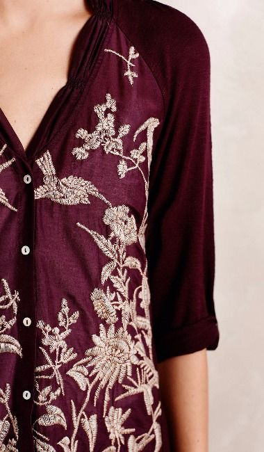 Quintana Buttondown - I like the feminine quality of this blouse and the deep…