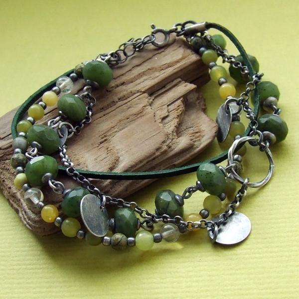Jewelry by RAMAJ - brancelet with nefryt