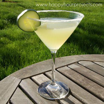 Cucumber Martini...hmmm...I like cucumbers and martinis so I'm SURE I'll like these!