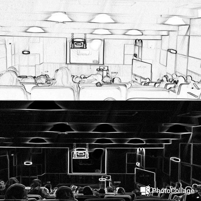 LECTURE HALL WHITE AND BLACK