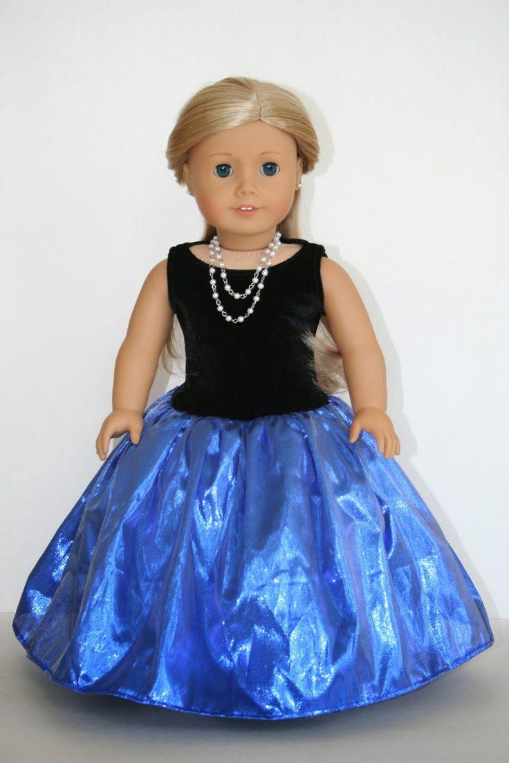 Fancy Dress for American Girl Doll tutorial (using Liberty Jane tank top pattern)