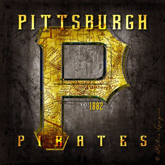 Pittsburgh Pirates  Retro Map  Perfect Gift for by RetroLeague, $24.00