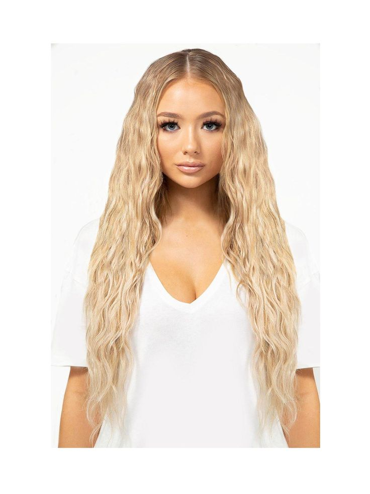 Beauty Works Double Hair Set Beach Wave 18 Inch 100% Remy Hair in L.A. Blonde
