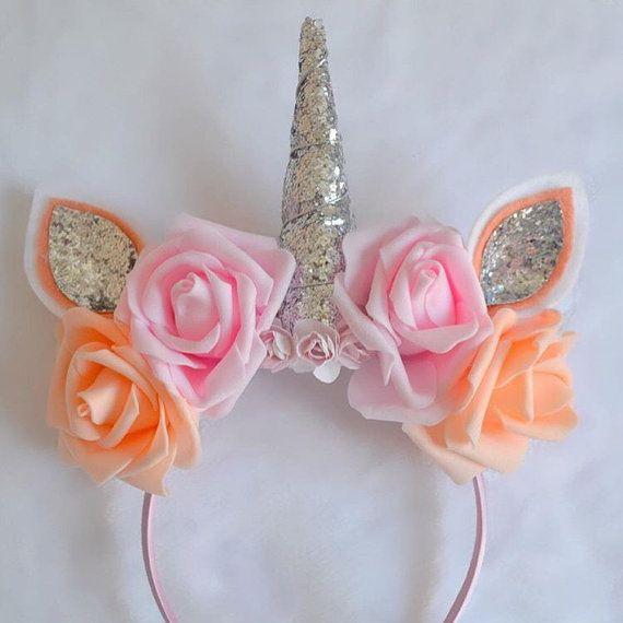Unicorn horn headband by LittleBellesBowsx on Etsy