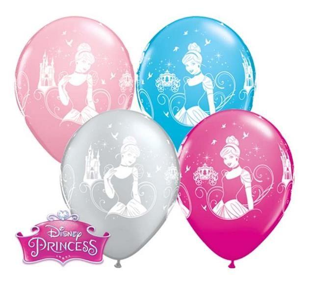 """Balon lateksowy 11"""" (29 cm) z nadrukiem przedstawiającym bohaterkę kultowej bajki Cinderella. Doskonała dekoracja na przyjęcie urodzinowe dla dziewczynki."""