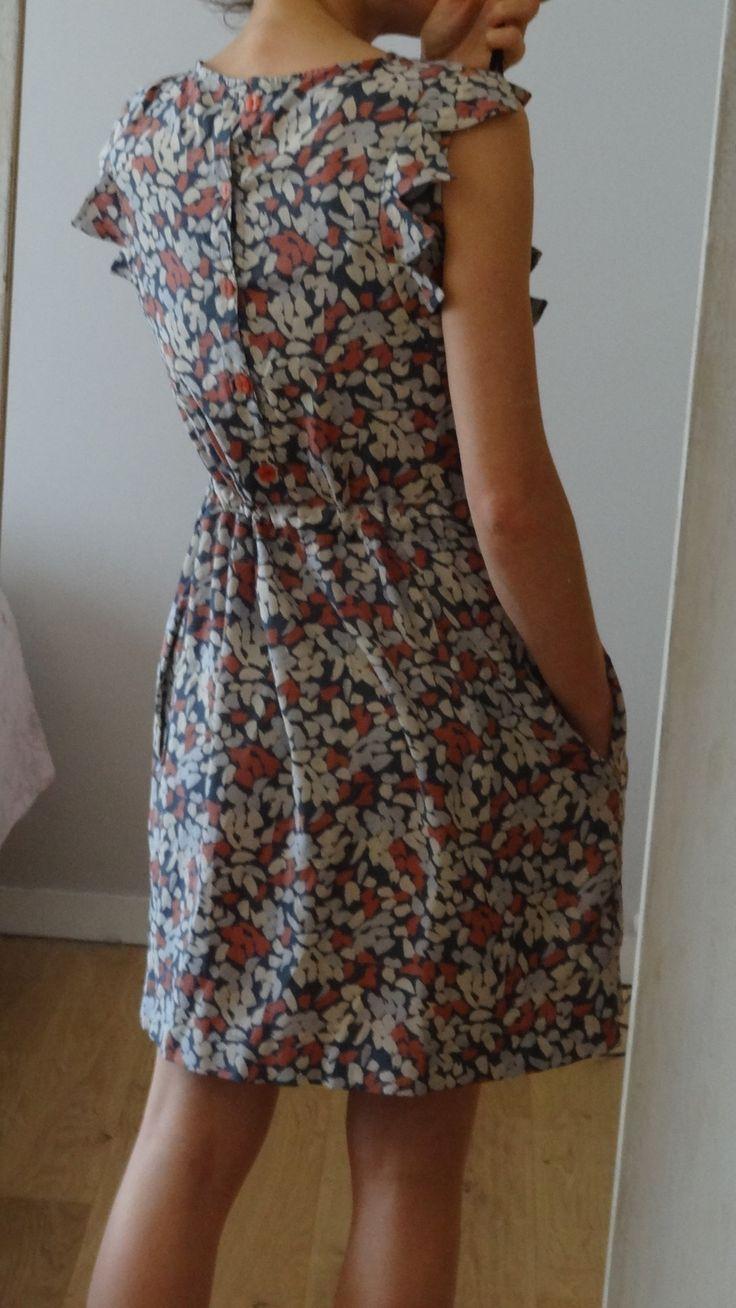 république du chiffon robe adèle atelier brunette blossom coral