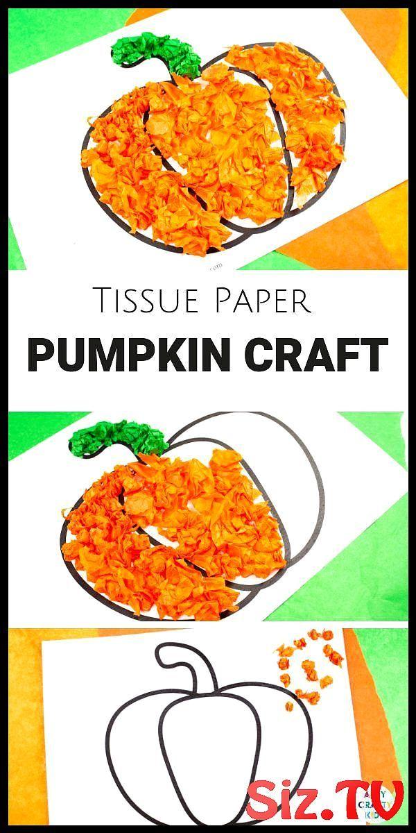 Tissue Paper Pumpkin Craft Tissue Paper Pumpkin Craft A Lovely Autumn Or Hallowe…