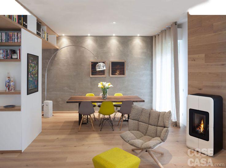 Nell'appartamento di circa 125 mq, opere murarie limitate a due ...