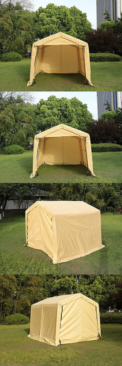 Awnings and Canopies 180992: 10X10x8ft Auto Storage Logic Shelter Car Garage Steel Carport Canopy Tent Beige -> BUY IT NOW ONLY: $187.59 on eBay!