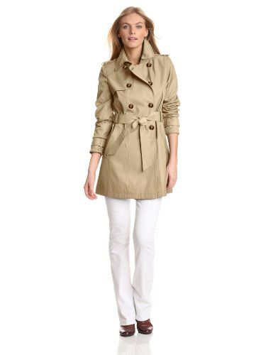 Tommy Hilfiger Women's Double Breasted Belted Water Resistant Rain Trench Coat for only $134.57 You save: $35.42 (21%) + Free Shipping