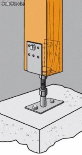 columna madera c anclaje hierro - Buscar con Google