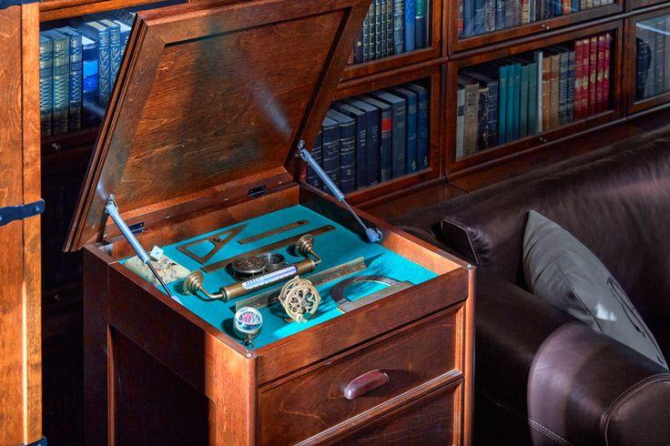 Boknäs laatikoston kannen alla on säilytystilaa