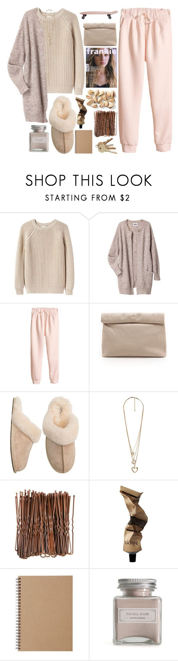 """Smile. Why? Because you can!"" by berina-2000 ❤ liked on Polyvore featuring Giada Forte, Acne Studios, H&M, Marie Turnor, UGG Australia, Forever 21, Aesop, Muji and Mullein & Sparrow"