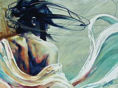 "Saatchi Online Artist Colin Staples Life Art; Painting, ""Looking Back"" #art"