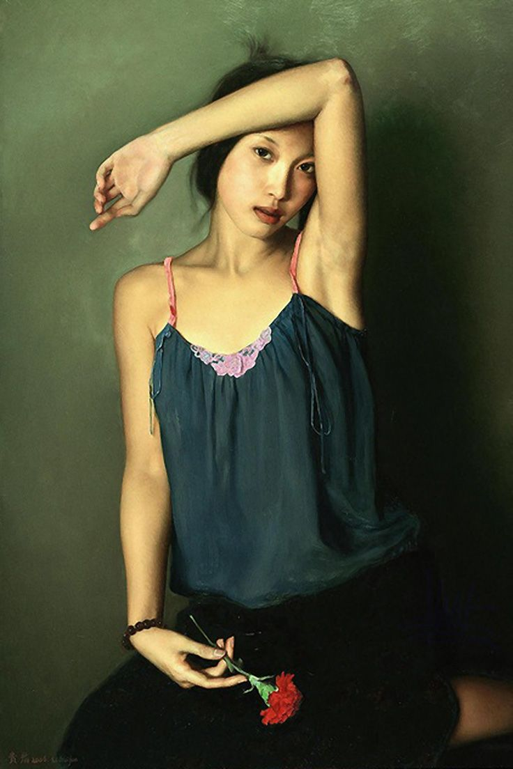 Woman Painting Asian Woman