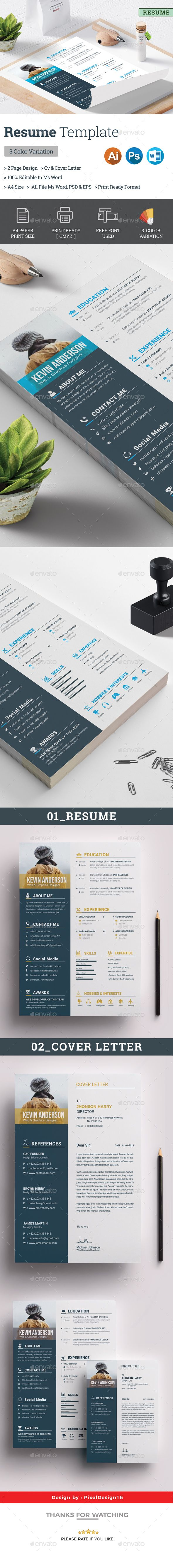 Resume #a4 #resume  • Download here → https://graphicriver.net/item/resume/21285962?ref=pxcr