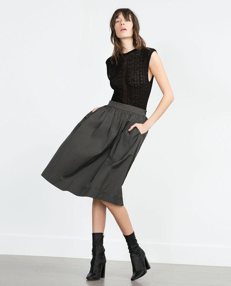 ZARA - WOMAN - MIDI SKIRT
