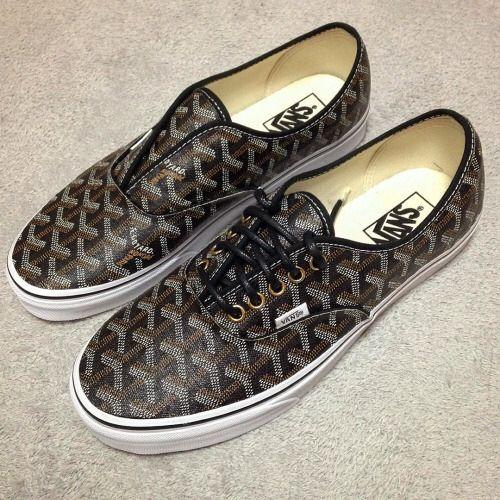 Goyard Vans.   Shoe goals!
