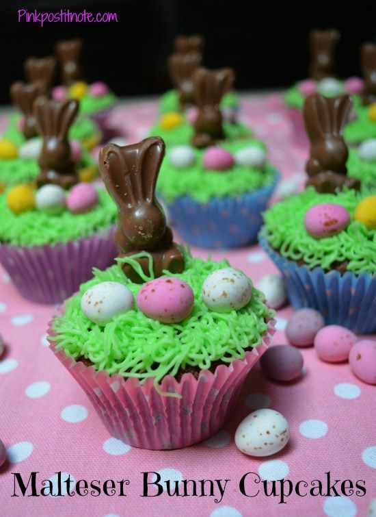 Perfect for Easter, these cute Malteser Bunny cupcakes are super easy and delicious!