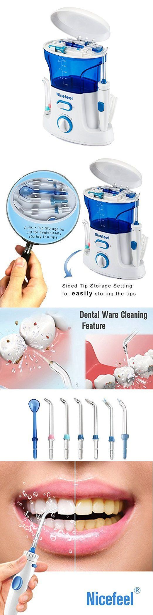 Dental Floss and Flossers: Dental Water Jet Flosser Electric Toothbrush Oral Care Pick Irrigator Pressure BUY IT NOW ONLY: $40.01