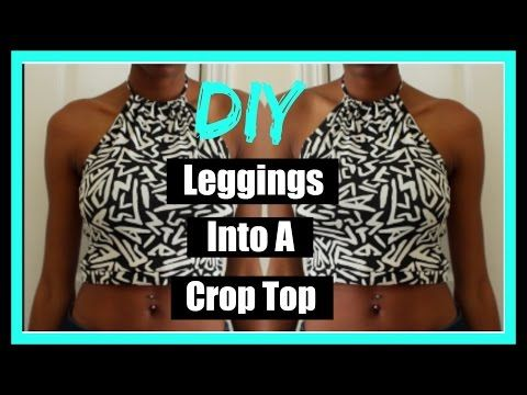 DIY | Turn your leggings into a crop top - YouTube